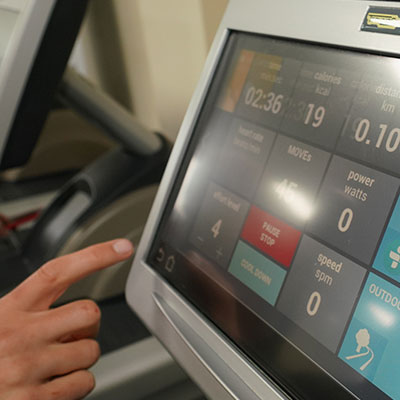 Finger Pointing on Treadmill Screen