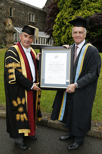 Professor Medwin Hughes, Professor Christopher Wood