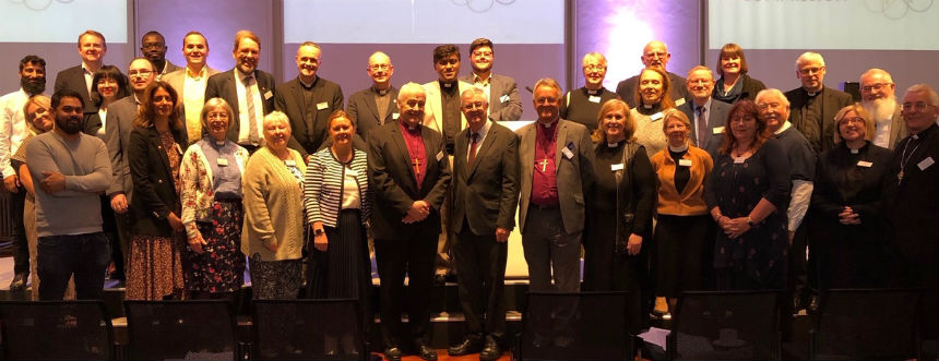 Delegates at the Anglican Interfaith Commission regional meeting in Cardiff including Archbishop of Wales and First Minister