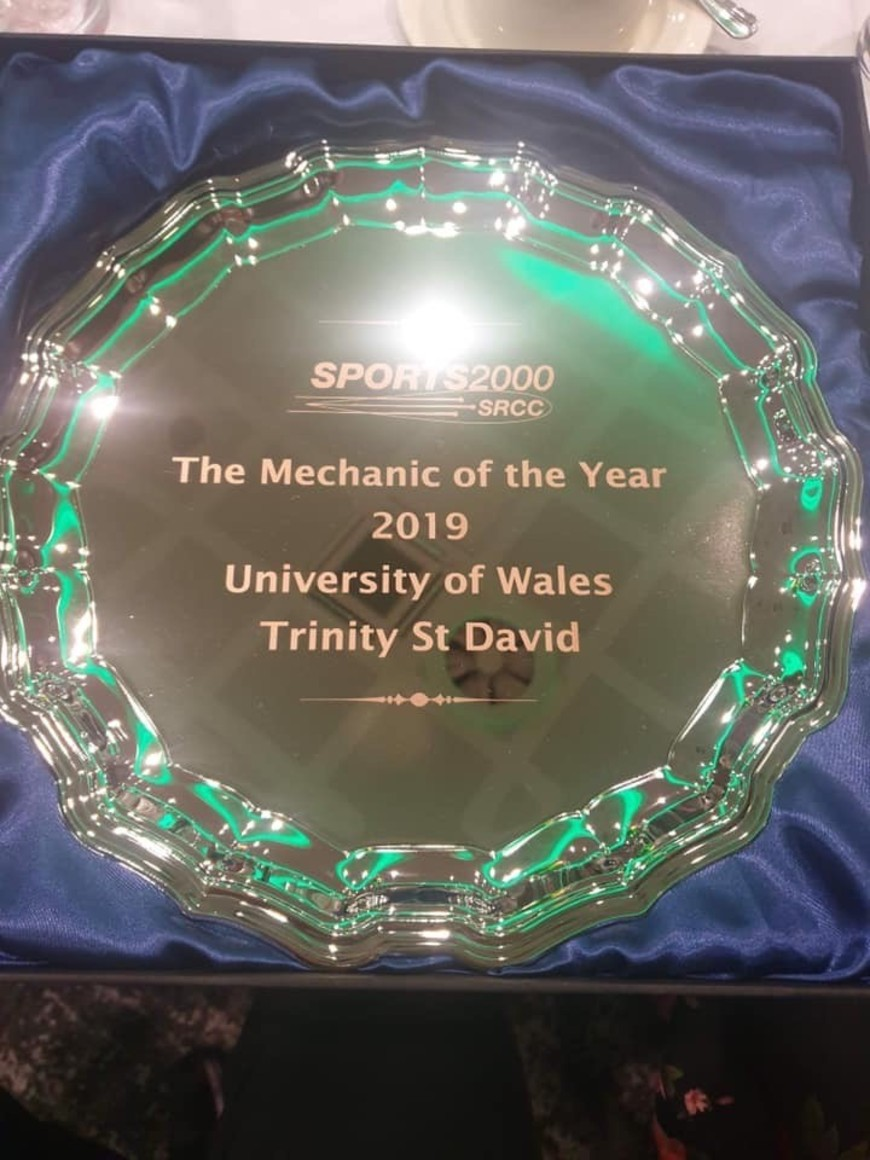 UWTSD Motorsport students win award at Creative Funding Solutions Sports 2000 Championship