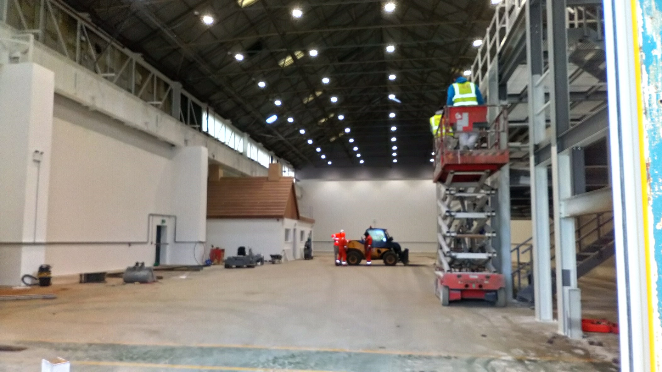 The Construction Wales Innovation Centre's new Scaffolding Academy on Swansea's Fabian Way has become the temporary home of staff facilities to support a field hospital as part of the response to the Covid-19 pandemic.