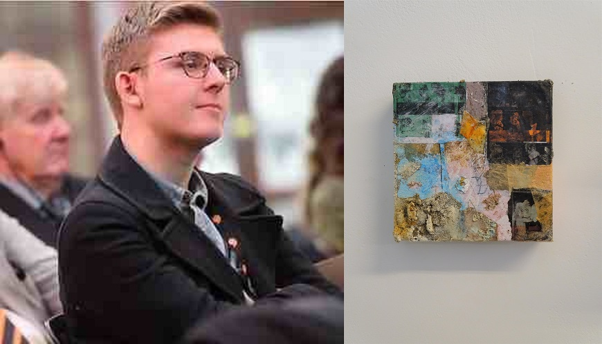 Owain Sparnon, a third year Fine Art student, has been selected to be part of the 'Young Welsh Artists' exhibition