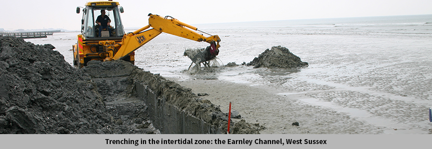 Trenching in the intertidal zone: the Earnley Channel, West Sussex