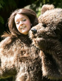 Alice Freeman in bear suit